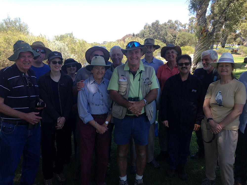 Bird Life members in WA at Bibra lake